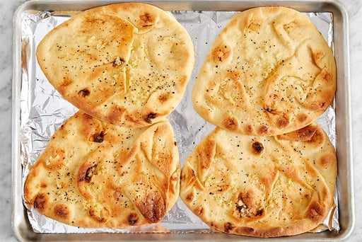 Make the garlic naan