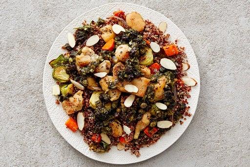 Finish & Serve the Oregano Chicken & Quinoa