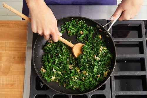 Cook the kale & apple