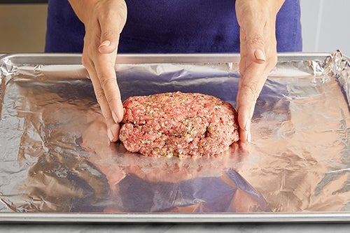 Form & bake the meatloaf