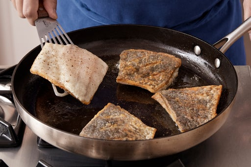 Coat & cook the barramundi: