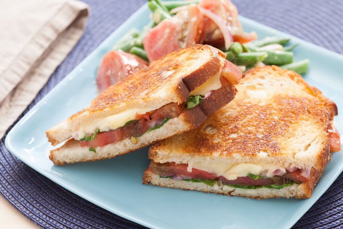 Recipe: Heirloom Tomato & Fontina Grilled Cheese Sandwiches with Dijon ...