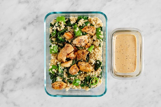 Assemble & Store the Italian-Style Chicken & Freekeh