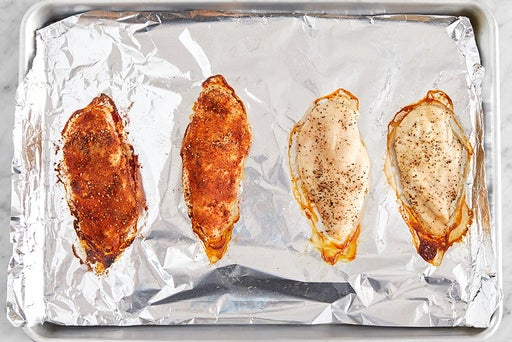 Roast & slice the chicken