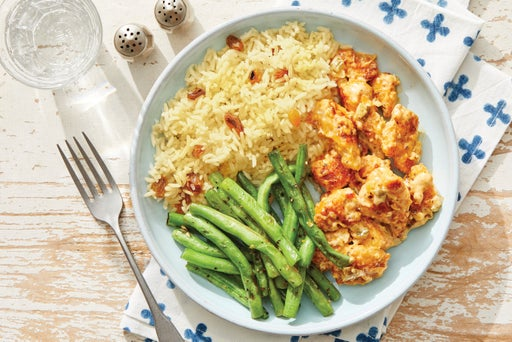 Southern-Style Chicken & Creamy Relish with Green Beans & Brown Rice