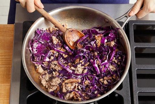 Cook the vegetables & pork