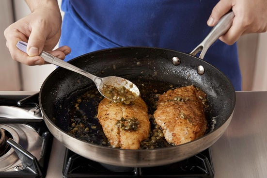 Finish the catfish & make the sauce:
