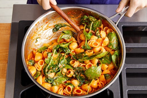 Finish the pasta & serve your dish