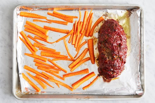 Finish the meatloaf & roast the carrots