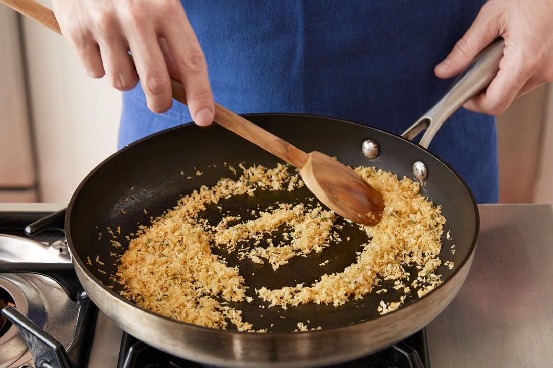 Make the thyme breadcrumbs: