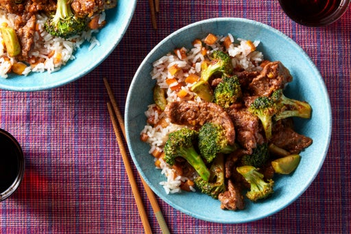 Stir-Fried Beef & Broccoli with Persimmon Rice