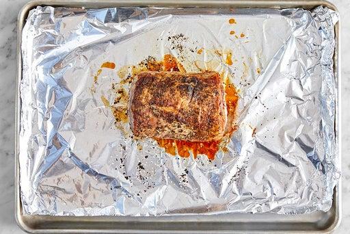 Roast & slice the pork
