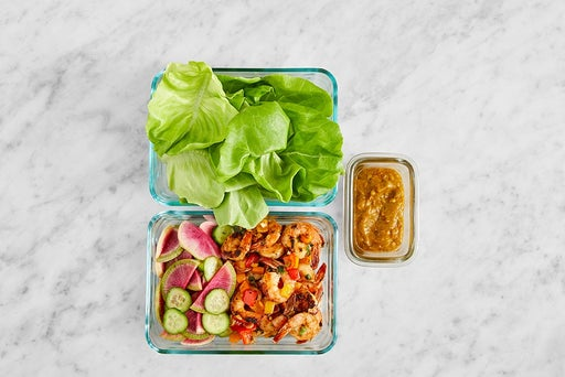 Assemble & Store the Asian-Style Shrimp Lettuce Cups