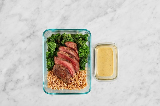 Assemble & Store the Maple Mustard Steaks