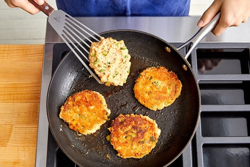 Cook the potato cakes