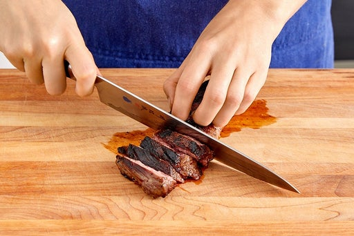 Slice the steak & serve your dish