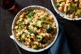 Spicy Broccoli & Fresh Fusilli Pasta with Mascarpone Cheese