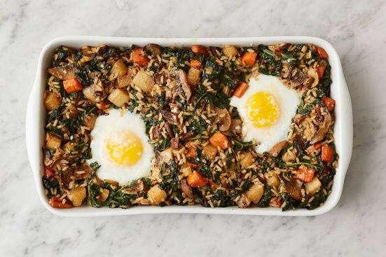 Bake the casserole & plate your dish: