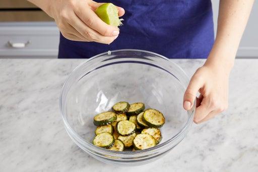 Roast the zucchini