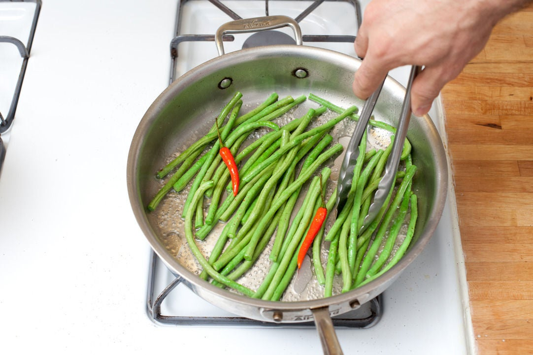 Cook the long beans: