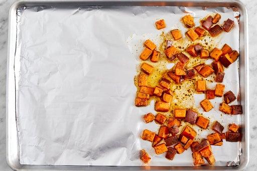 Start the sweet potato
