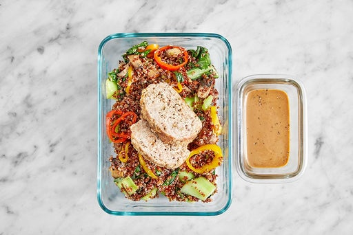 Assemble & Store the Turkey Meatloaf & Hoisin Mayo