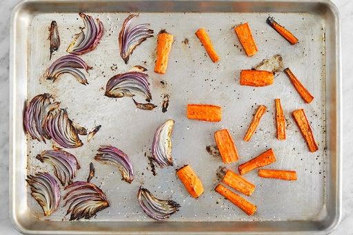 Roast the carrots & onion