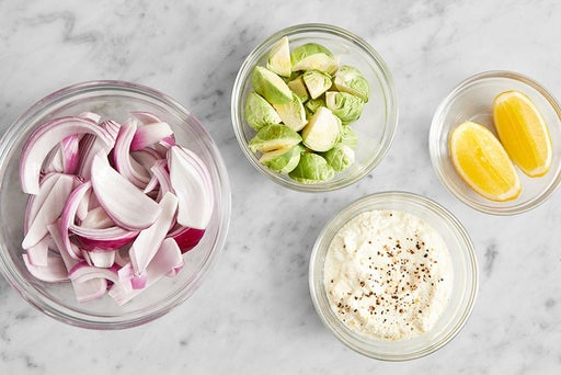 Prepare the ingredients & make the lemon ricotta