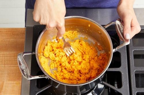 Cook & mash the sweet potatoes