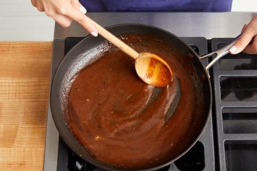 Make the sauce & serve your dish