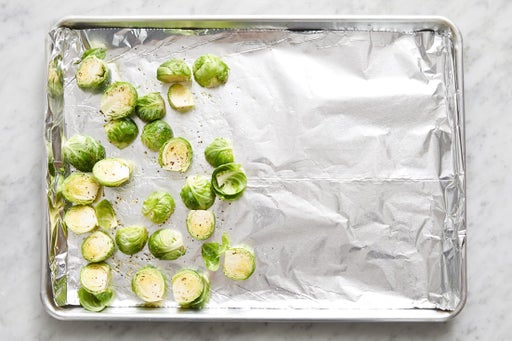 Prepare the brussels sprouts