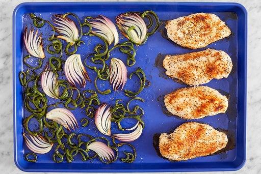 Start the chicken & vegetables