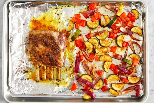 Roast the lamb & vegetables