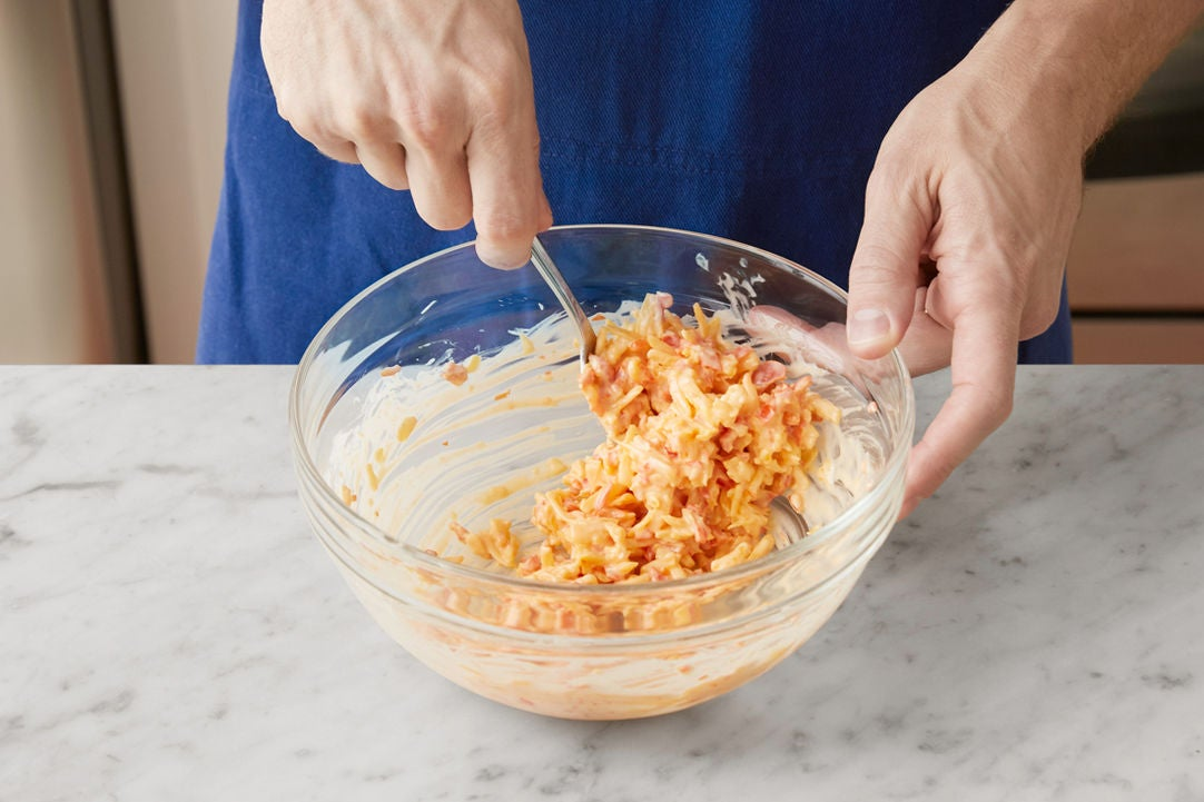 Make the pimento cheese: