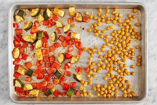 Roast the chickpeas & vegetables