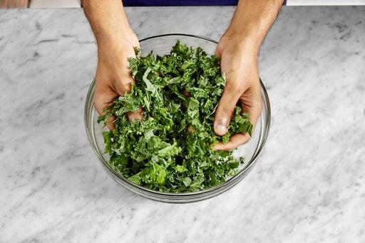 Marinate the kale