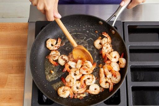 Coat & cook the shrimp