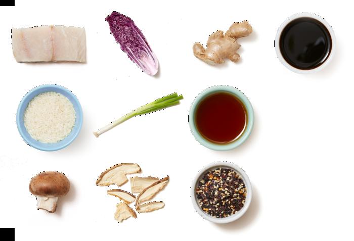 Barramundi & Mixed Mushrooms with Jasmine Rice & Napa Cabbage