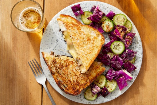 Smoked Gouda & Monterey Jack Grilled Cheese with Mushrooms & Pickled Shallot