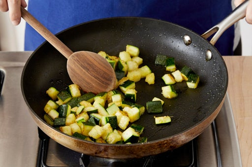 Cook the zucchini & make the filling