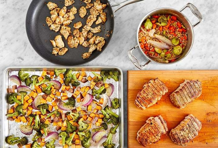 Carb Conscious with Chicken & Pork Chops