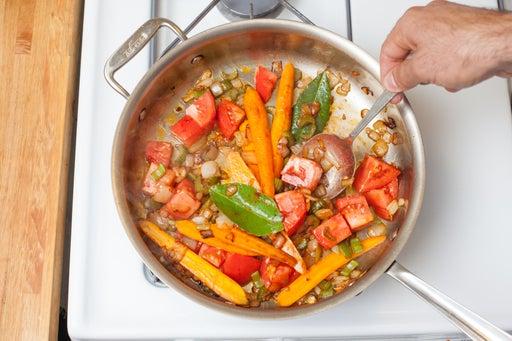 Add the tomato: