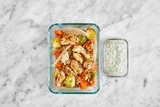 Assemble & Store the Creamy Salsa Verde Chicken