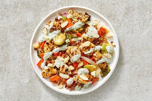 Finish & Serve the Creamy Salsa Verde Chicken