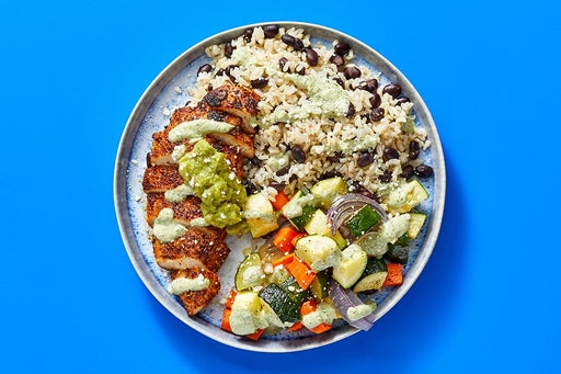 Finish & Serve the Mexican Chicken & Guacamole