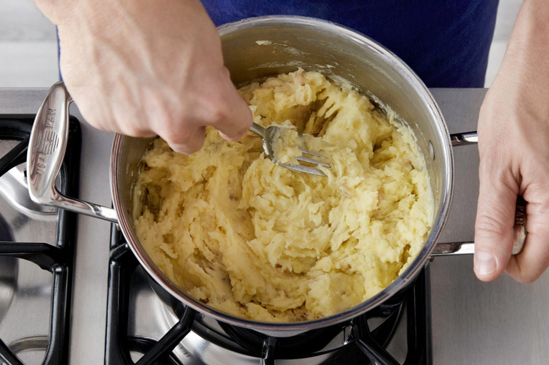 Cook & mash the potatoes:
