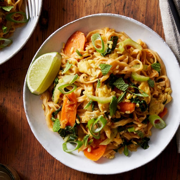 Vegetable Pad Thai with Spaghetti Squash & Bok Choy