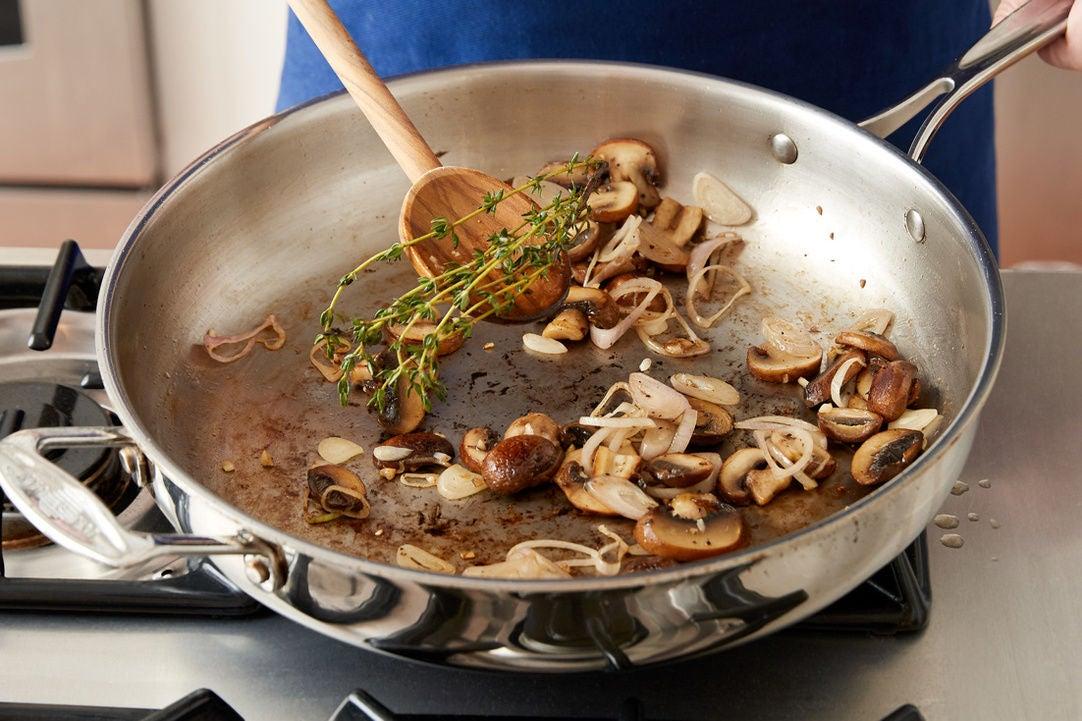 Start the mushrooms: