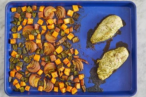 Roast the vegetables & chicken