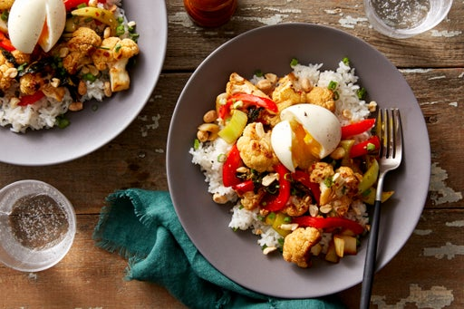 Sweet & Sour Cauliflower with Bok Choy & Jasmine Rice
